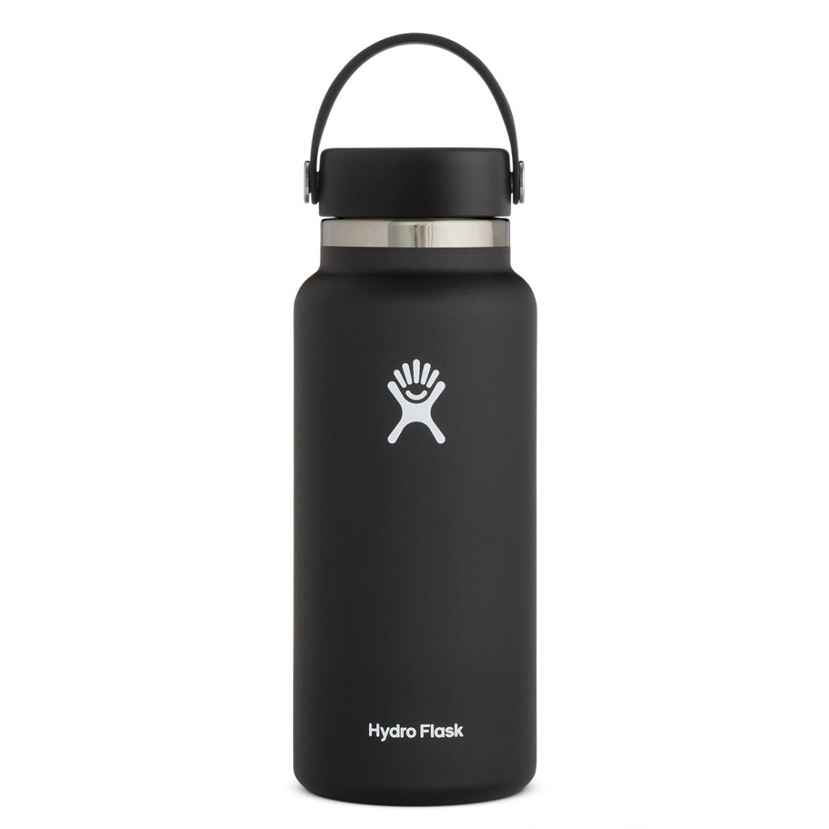 Hydro Flask 32oz Wide Mouth 2.0 Flex Cap, Black